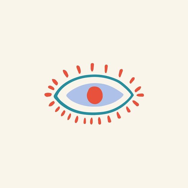 Глаз символ социальных сми poat значок векторные иллюстрации