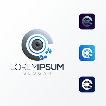 Eye tech premium logo icon