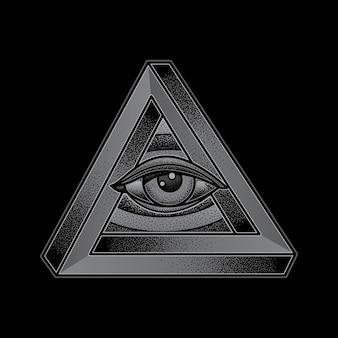 눈 삼각형