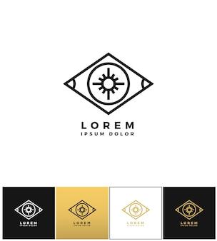 Eye vector logo or looking control icon