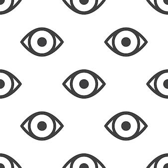Глаз, вектор бесшовные модели, редактируемый может использоваться для фонов веб-страницы, узорные заливки