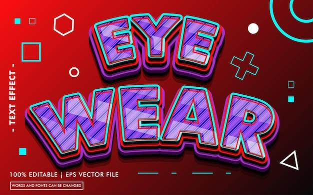Eye war text effect style
