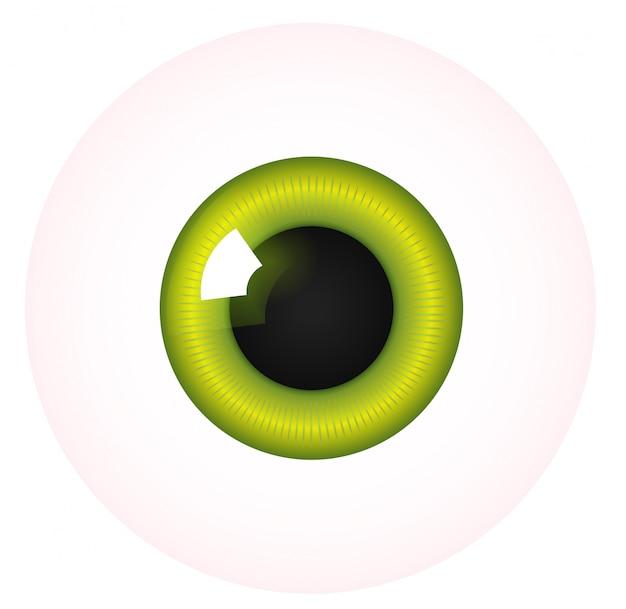 Eye on white