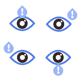 세계 시력의 날 개념에 대한 경고 표시 아이콘이 있는 눈 눈 건강 아이콘