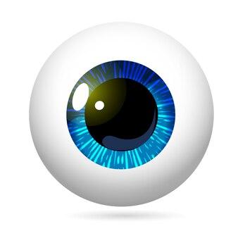 Eyeball blue iris realistic