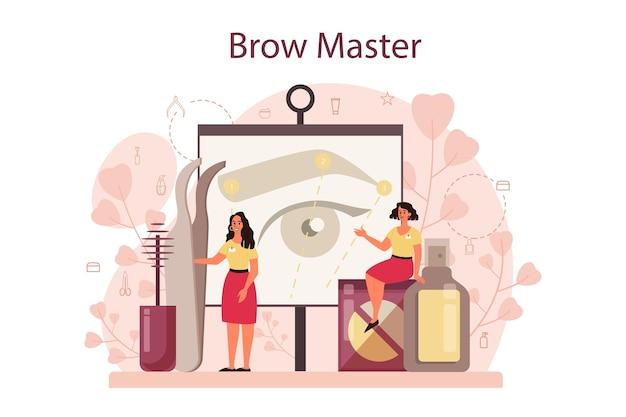 眉毛のマスターとデザイナーのコンセプト