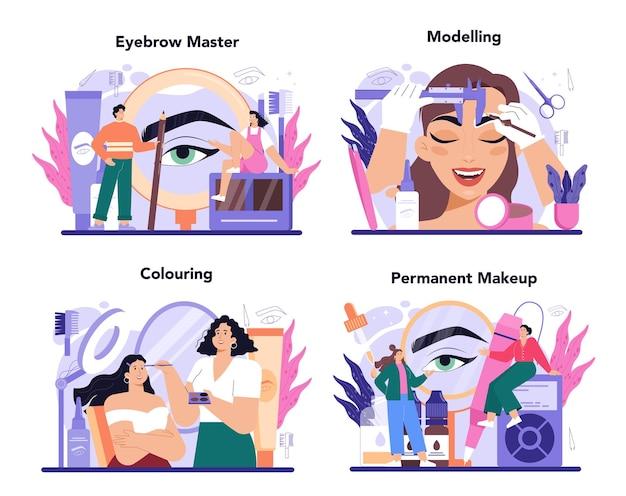 Eyebrow master concept set мастер создания идеальных бровей для коррекции формы бровей