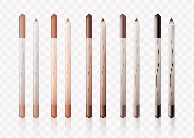 Eyebrow pencil color swatch vector illustration Premium Vector