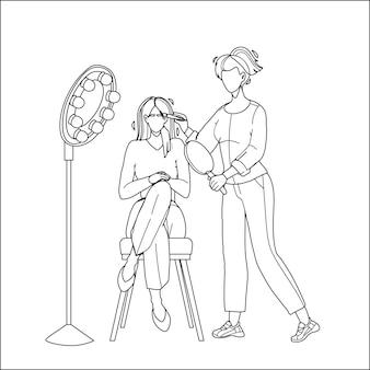 Услуги салона бровей получение девушки-клиента