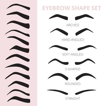Eyebrow shape set.