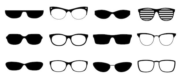 眼鏡のシルエット。