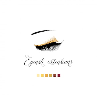 Eyelash extension banner.