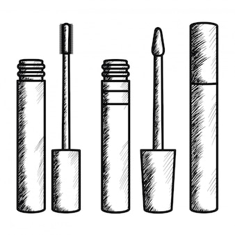 Eyelash make up drawing icon