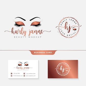 Eyelashes logo template