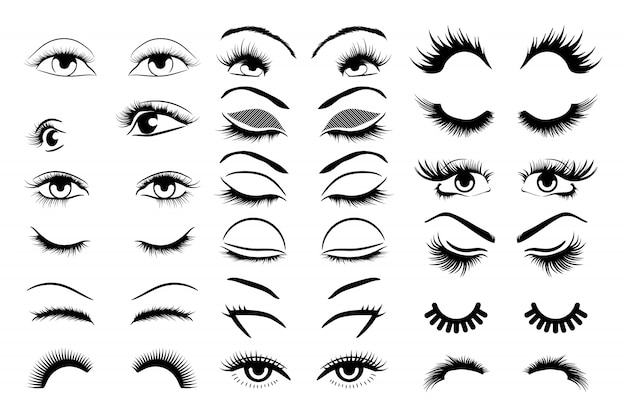 Eyelashes  set collection