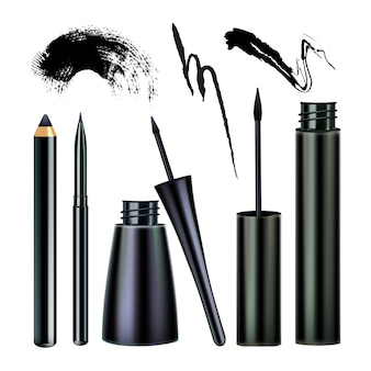 Eyeliners and paint stroke visage tool