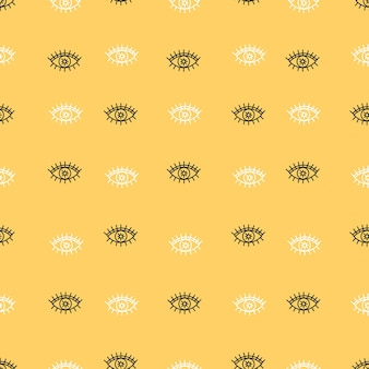 Eyes pattern hand drawn for yoga