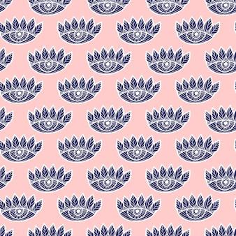 Eyes seamless pattern on pink