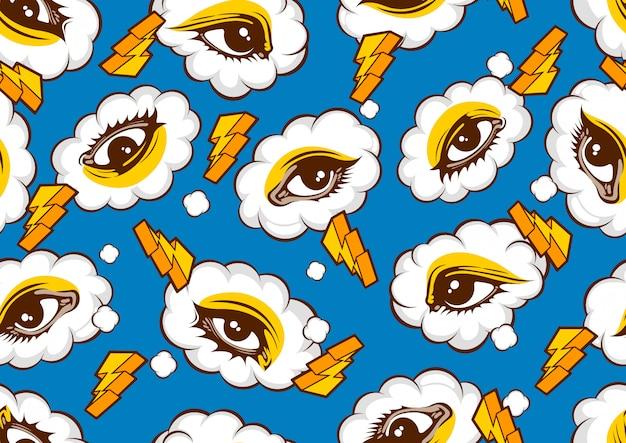 Eyes seamless pattern,