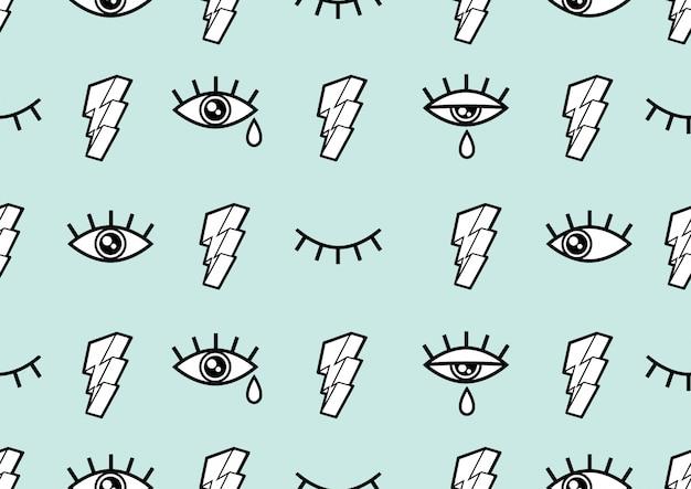 Глаза бесшовные модели,