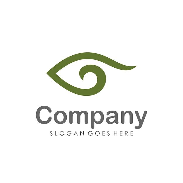 Шаблон дизайна логотипа глазного зрения