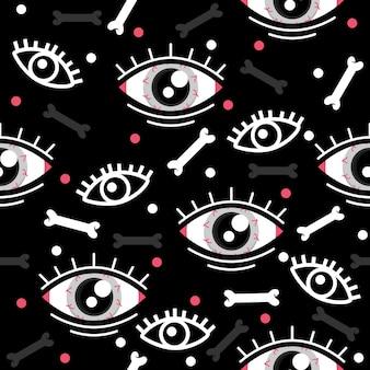Глаза с костями хэллоуин шаблон иллюстраций