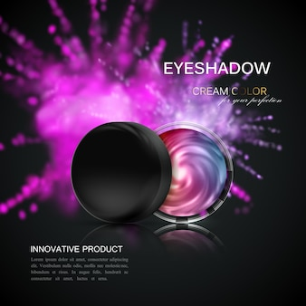 Eyeshadows or blusher cosmetics product package
