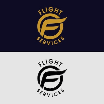 F для логотипа компании