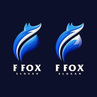 F fox logo design