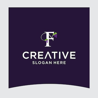 F grape logo design
