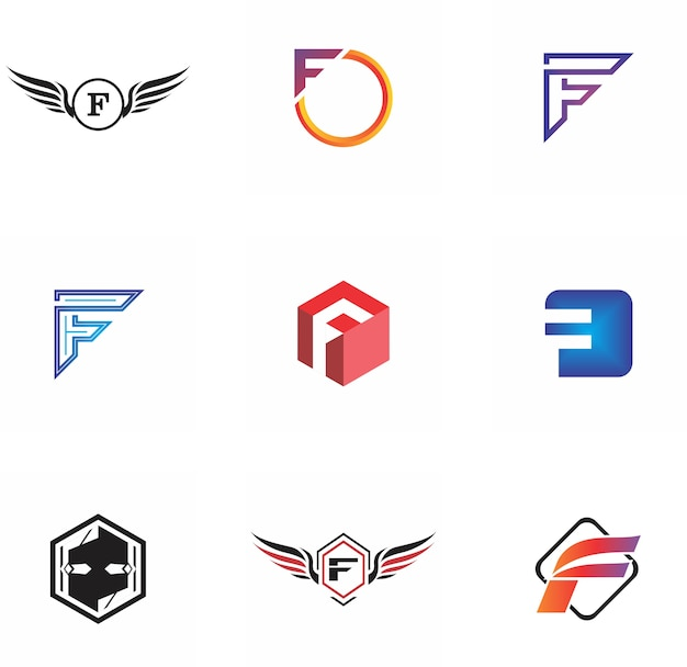 F letter logo design for company