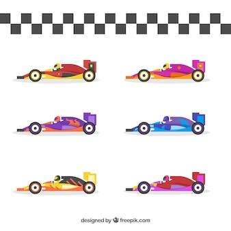 Коллекция гоночных автомобилей f1