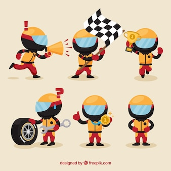 F1 racing characters