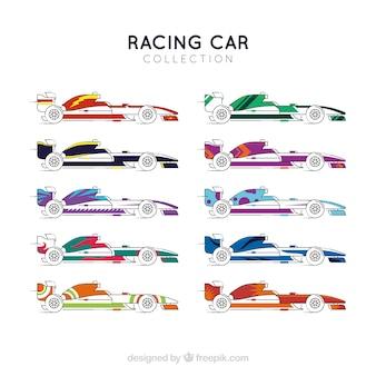 F1レーシングカーのコレクション