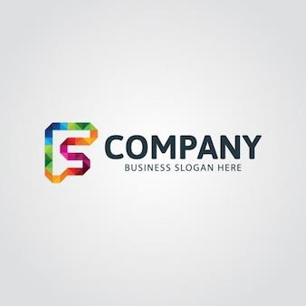 Красочные буква f логотип