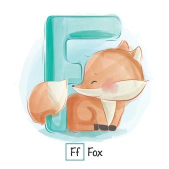 Алфавит животное - f