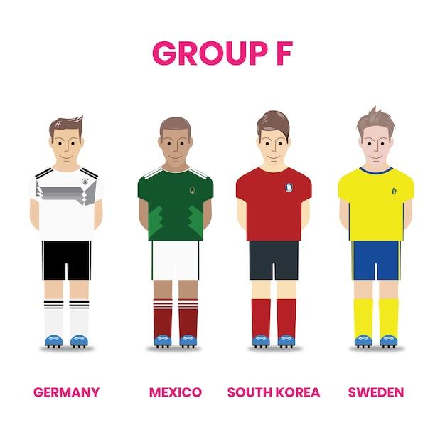 グループfのナショナルサッカーチームコンペ