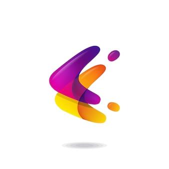 Буква f логотип
