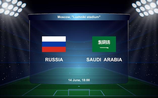 ロシア対サウジアラビア。 f