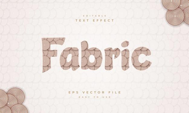 패브릭 라인 패턴 및 텍스처가 있는 패브릭 편집 가능한 텍스트 효과