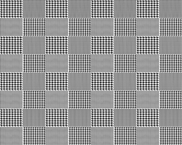 Fabric houndstooth seamless pattern