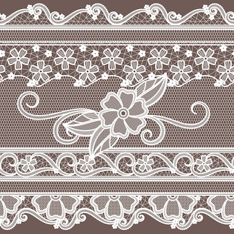 Fabric lace with flowers decoration. fashion seamless pattern in baroque style.