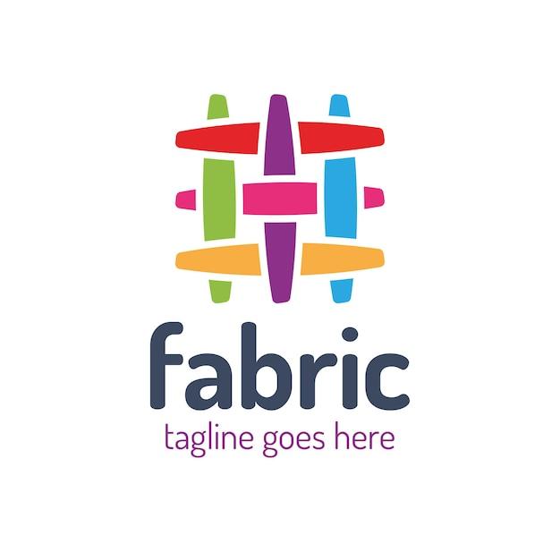Шаблон дизайна логотипа ткани