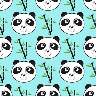 Fabric nature wildlife wild decoration panda kid pattern mammal asia paper card