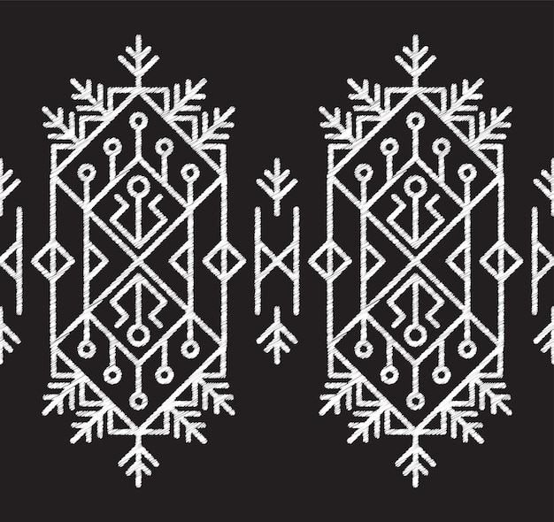 Fabric pattern tribal aztec seamless