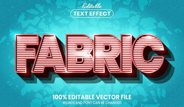 Текст ткани, редактируемый текстовый эффект стиля шрифта