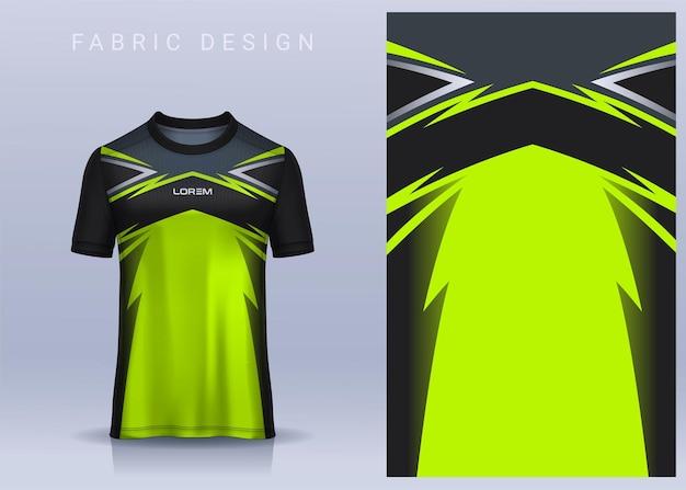 スポーツtシャツのファブリックテキスタイルデザインサッカークラブのユニフォームの正面図のサッカージャージ