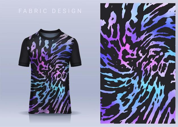 スポーツtシャツのファブリックテキスタイルデザインサッカークラブのユニフォームの正面図のサッカージャージ Premiumベクター
