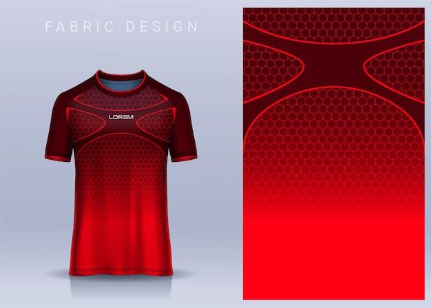 スポーツtシャツのファブリックテキスタイルデザインサッカークラブのユニフォーム正面図のサッカージャージーテンプレート