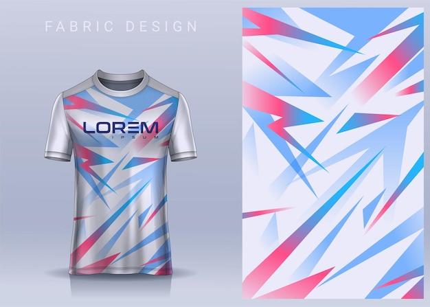 스포츠 tshirt 축구 jerseytemplatefor 축구 클럽 유니폼 전면보기를위한 직물 섬유 디자인